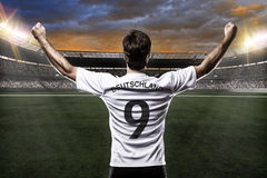 Germany soccer player. Celebrating with the fans Royalty Free Stock Images