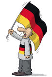 Germany soccer supporter Royalty Free Stock Image