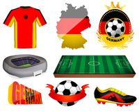 Germany soccer vector illustration Royalty Free Stock Images