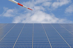 Germany, Solar panels and wind turbine Royalty Free Stock Image