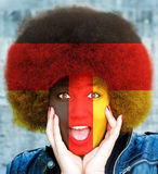 Germany sport fan Royalty Free Stock Photos