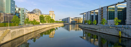 Germany - Spree river and Reichstag during the morning Royalty Free Stock Image
