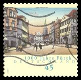 Millennium of the city of Furth. Germany - stamp 2007: Color edition on Anniversaries, shows Millennium of the city of Furth Stock Photo