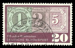 First Postage Stamp stock image