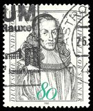Philipp Jakob Spener. Germany - stamp 1985: Edition on Famous people, shows Church reformer Philipp Jakob Spener Royalty Free Stock Photos