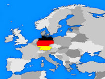 Germany standing out of map Royalty Free Stock Images