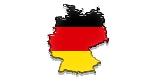 Germany State Flag. Illustration of Germany  flag in bright colors red yellow and black as the state form Stock Image