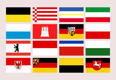 Germany states flags Stock Photo