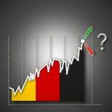 Germany stock exchange, illustration. Germany flag als stock exchange, illustration Stock Image
