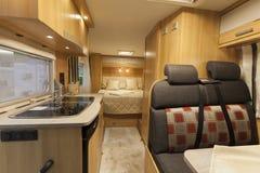 Germany, Stuttgart, 19 January 2015: Inside of modern camper Royalty Free Stock Images