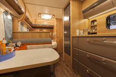 Germany, Stuttgart, 19 January 2015: Inside of modern camper Stock Photography