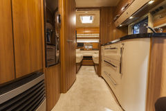 Germany, Stuttgart, 19 January 2015: Inside of modern camper Royalty Free Stock Photo