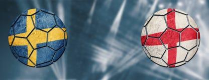 germany sweden vs England fotbollsmatch Arkivfoto