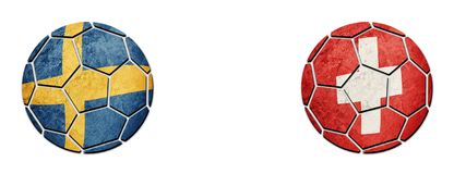 germany sweden vs Schweiz fotbollsmatch Arkivbilder