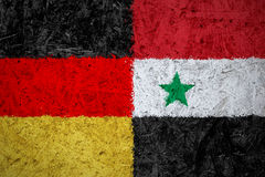 Germany and Syria flags Royalty Free Stock Images