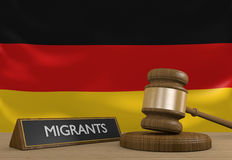 Germany and the Syrian migrant crisis in Europe Royalty Free Stock Images