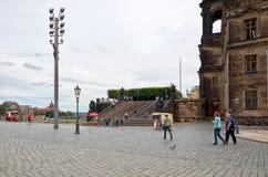 germany Teaterfyrkant i Dresden 16 Juni 2016 Arkivfoto