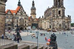 germany Teaterfyrkant i Dresden 16 Juni 2016 Royaltyfria Bilder