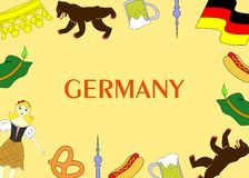 The Germany template Royalty Free Stock Photography