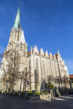 Germany, Thuringia, Muhlhausen,. View of Church of Our Lady royalty free stock photo