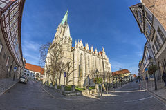 Germany, Thuringia, Muhlhausen,. View of Church of Our Lady royalty free stock photography