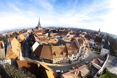 Germany, Thuringia, Muhlhausen,. View over old town of Muelhausen, Germany Stock Photography