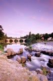 Germany,Thuringia,Saalfeld,Bridge over Saale river Stock Photo