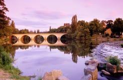 Germany,Thuringia,Saalfeld,Bridge over Saale river Royalty Free Stock Photo