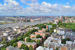 Germany. Top-view of Hamburg Royalty Free Stock Photos