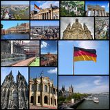 Germany. Tourism attractions - travel photo collage with Berlin, Munich, Hamburg, Dresden, Dusseldorf, Cologne and Essen stock photo