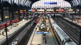 Germany Train Station 6 blur.mp4. Scene from Germany Europe of train station stock video