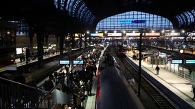 Germany Train Station 2.mp4. Scene from Germany Europe of train station stock footage