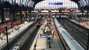 Germany Train Station 5.mp4. Scene from Germany Europe of train station stock footage