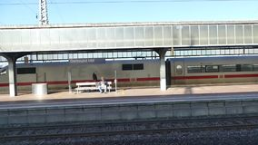 Germany Train Station 3.mp4. Scene from Germany Europe of train station stock video footage