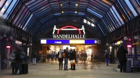 Germany train station. Scene from Germany Europe of train station stock video footage