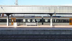 Germany train station. Scene from Germany Europe of train station stock video