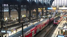Germany Train Station. Scene from Germany Europe of train station stock footage