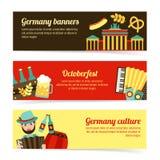 Germany travel banner set Royalty Free Stock Image