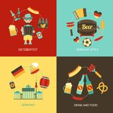 Germany travel flat set Stock Image