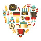Germany travel heart set Royalty Free Stock Photography