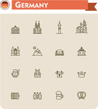 Germany  travel icon set Royalty Free Stock Images
