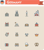 Germany  travel icon set Stock Images