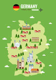Germany travel map. Infographic travel and landmark. Stock Images