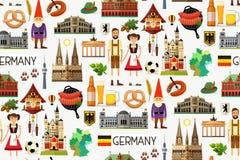 Germany Travel Map. Stock Photo