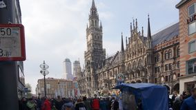 Munich Marienplatz Bavaria New town hall royalty free stock photos