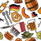 Germany travel pattern Royalty Free Stock Photo