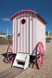 Germany, Travemuende, bathing machine at bea royalty free stock image