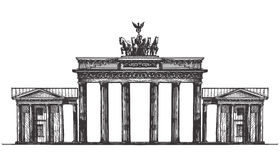 Germany vector logo design template. monument or Stock Photo