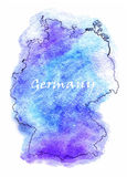 Germany vector map illustration Stock Photo
