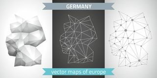 Germany vector maps Royalty Free Stock Images